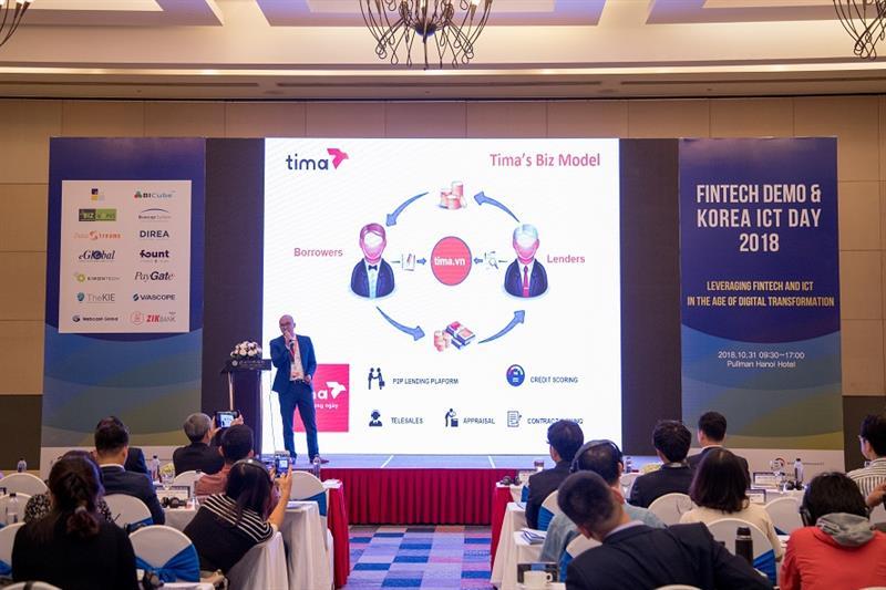 Tima tham dự và phát biểu tại Hội thảo Fintech & Korea ICT Day 2018